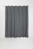 H&S - Rey eyelet curtain - charcoal