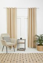 H&S - Rey eyelet curtain - natural