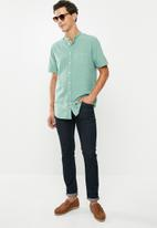 Superbalist - Oxford mandarin shirt - green