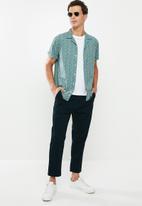 Superbalist - Cuban collar shirt - blue