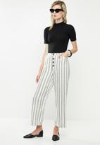 MANGO - Trousers sisi - offwhite