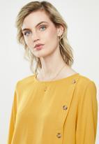 MANGO - Wrap blouse - yellow