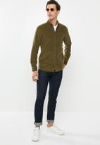 Only & Sons - Georg long sleeve solid corduroy shirt - khaki
