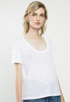 MANGO - Short sleeve tee - white