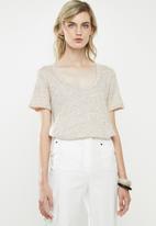 MANGO - Short sleeve tee - pale brown