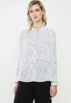 MANGO - Flowy blouse - white
