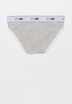 Cotton On - Girls bikini brief - grey & white