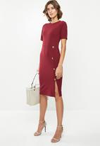 edit - Crepe suit dress - maroon
