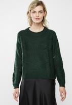 Jacqueline de Yong - Daisy structure pullover - scarab green