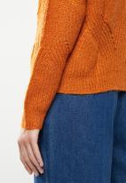 Jacqueline de Yong - Daisy structure pullover - maple orange