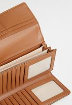 POLO - Heritage clutch purse - brown & black