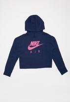Nike - Girl Nike Air crop hoodie - blue & pink