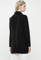 Jacqueline de Yong - Hana high neck coat - black
