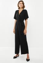 edit - Wrap jumpsuit - black