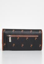 POLO - Classic trifold purse - black & brown