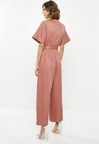 edit - Wrap jumpsuit - pink