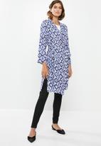 edit - Long kimono - blue & white