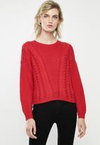 ONLY - Sara long sleeve pullover - toreador