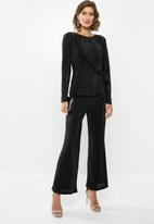 edit - Plisse trousers - black