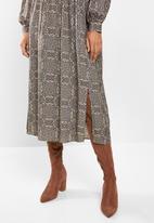 edit - Soft waist midi dress - floral
