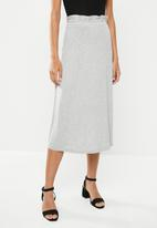 edit - Pull on knit midi skirt - light grey