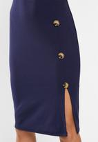 edit - Crepe suit dress - navy