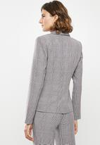 edit - Classic suit blazer - check