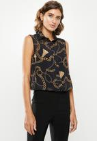 edit - Sleeveless shirt - print