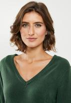 Jacqueline de Yong - Valley treats long sleeve dress - green