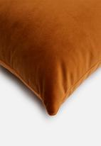 Sixth Floor - Button cushion - rust
