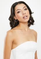 Missguided - Jersery bandeau corset - cream