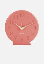 Present Time - Sole numbers alarm clock - coral pink
