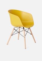 Sixth Floor - Bea chair - mustard