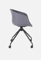 Sixth Floor - Bea office chair - charcoal