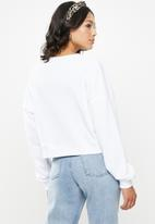 Missguided - V-front oversized sweat - white