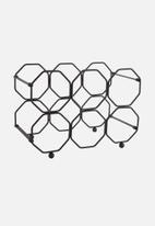 Present Time - Honeycomb wine rack - black
