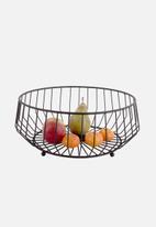 Present Time - Kink fruit basket - black