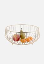 Present Time - Kink fruit basket - gold
