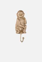 Present Time - Monkey coat hook - gold