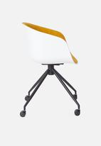 Sixth Floor - Bea soft office chair - yellow & white