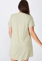 Cotton On - Curve relaxed tee dress - green