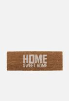 Present Time - Home sweet home door mat - white