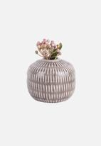 Present Time - Nostalgai vase sphere - brown