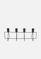 Present Time - Candle holder 4 in a row - black