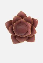 Present Time - Flower tealight holder - pink