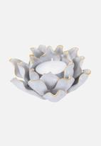 Present Time - Flower tealight holder - white