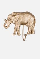 Present Time - Elephant coat hook - gold