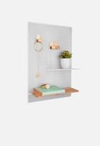 Present Time - Perky mesh memo board - white