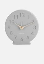 Present Time - Sole numbers alarm clock - mouse grey