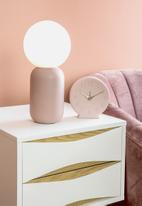Present Time - Sole numbers alarm clock - pink